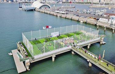 中国首座海上球场在青启用