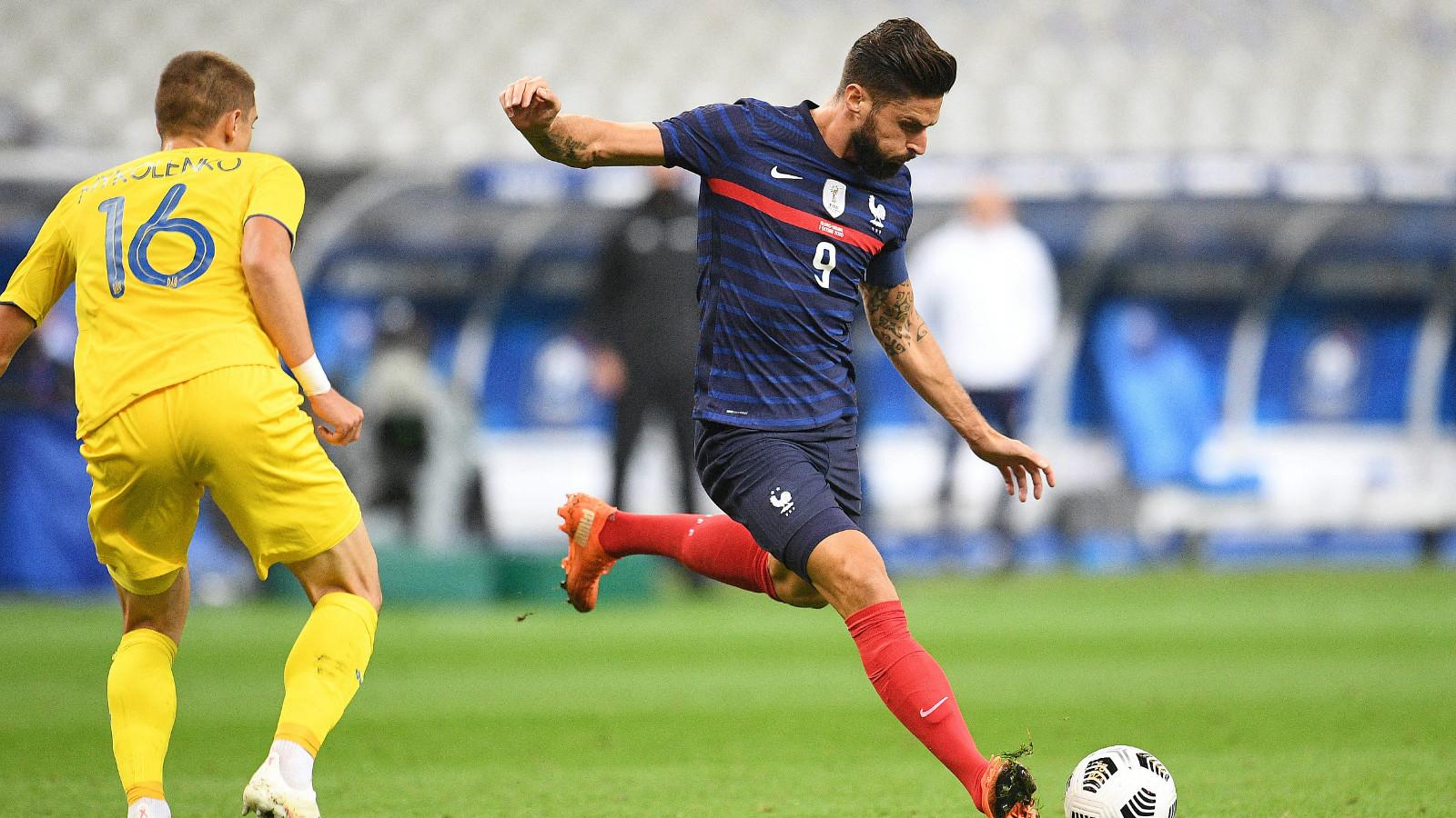 热身-吉鲁梅开二度 法国7-1大胜乌克兰