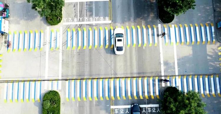 醒目又逼真!3D立体斑马线亮相聊城冠县街头