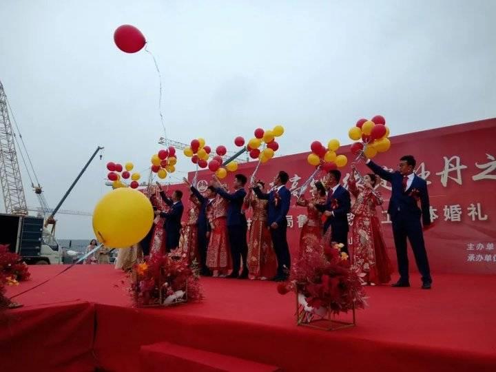 浪漫!菏泽高铁工地上的集体婚礼!