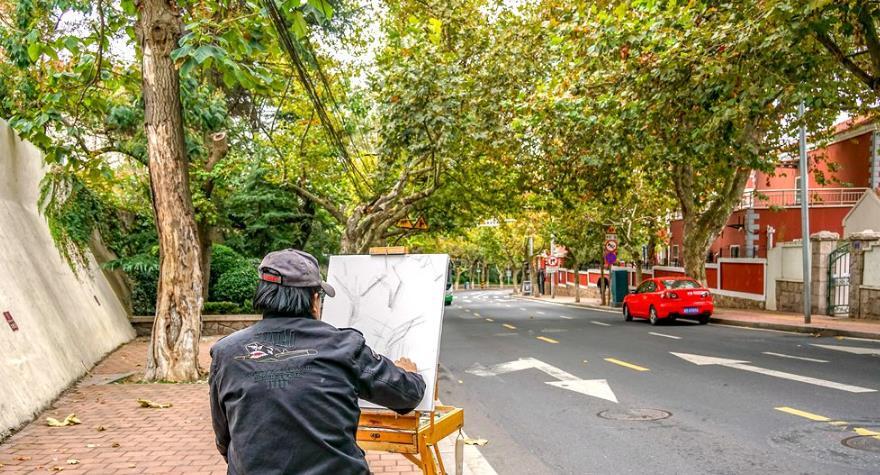 大学路 不仅有网红红墙 法桐秋色也很美