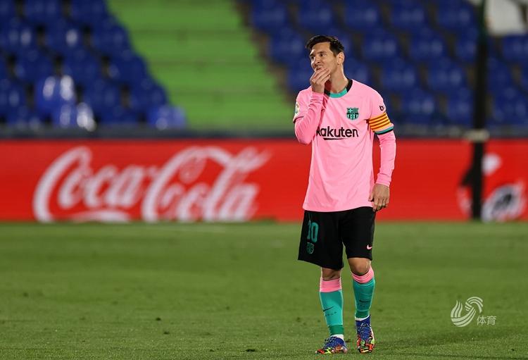 德容送点梅西中柱 巴萨0-1赫塔菲遭首败