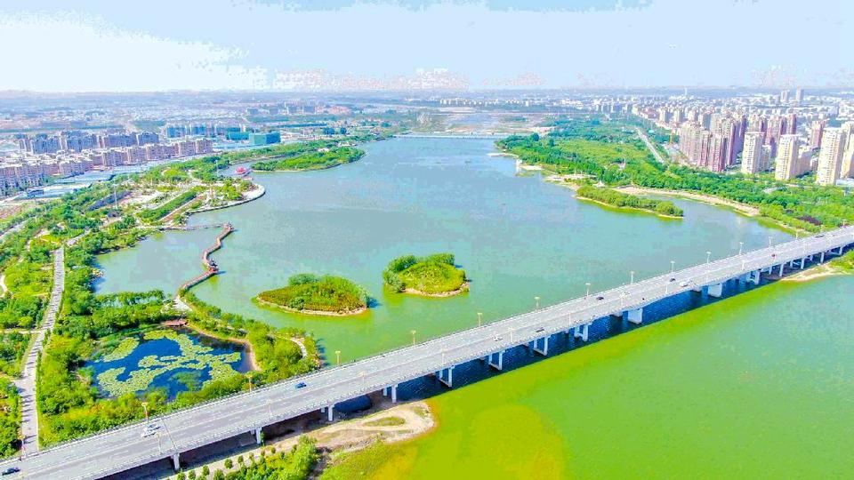 日照莒县:美丽沭河景色新