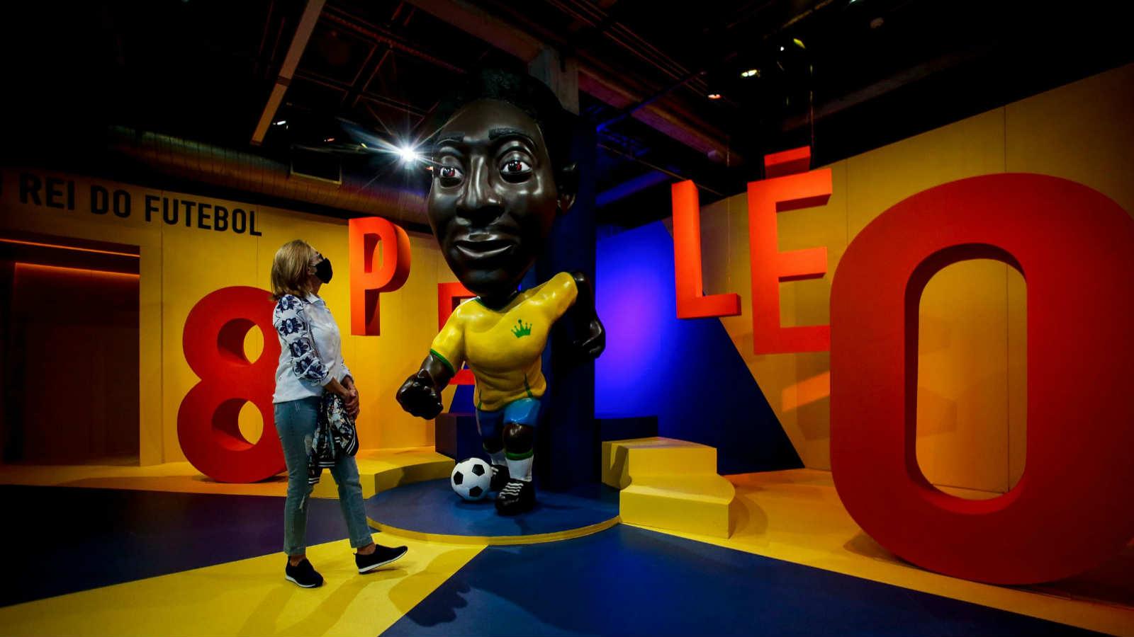 球王贝利迎80岁生日 巴西博物馆举行纪念展览