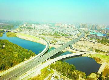 菏泽市人民南路立交桥壮美呈现