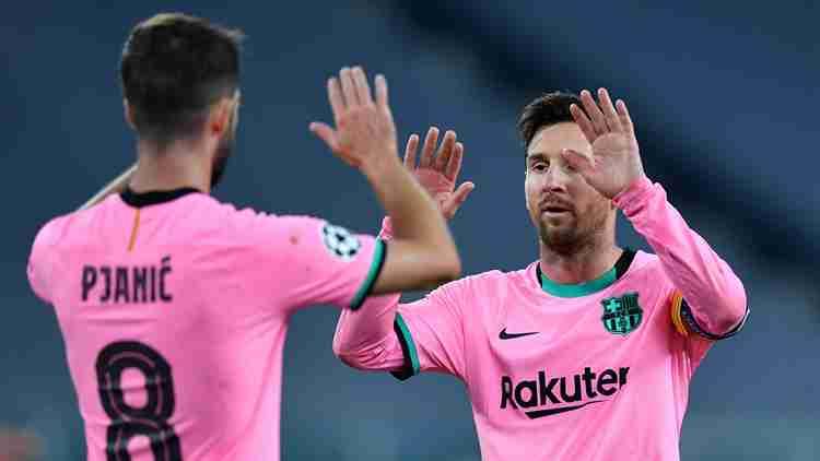 梅西传射 巴萨2-0客胜尤文