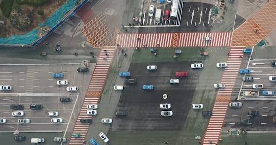 如约通车!聊城大转盘改造为十字路口