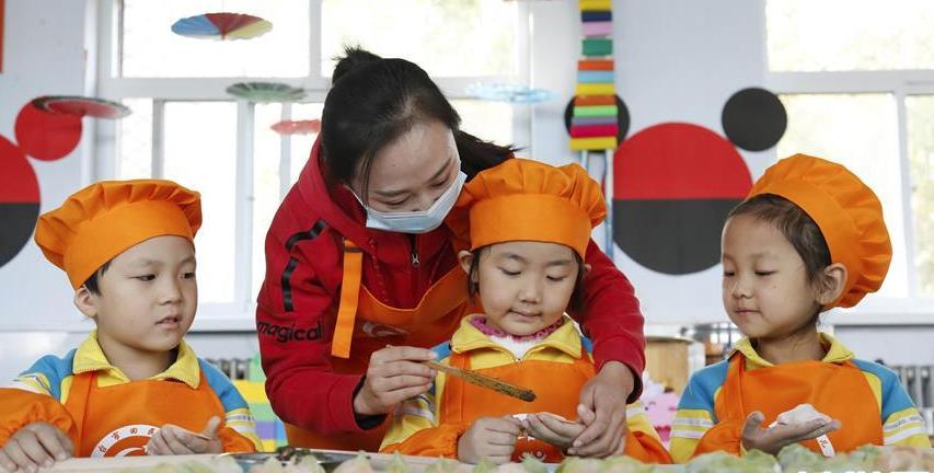 包饺子啦!幼儿园小朋友参加包饺子、知民俗、迎立冬活动