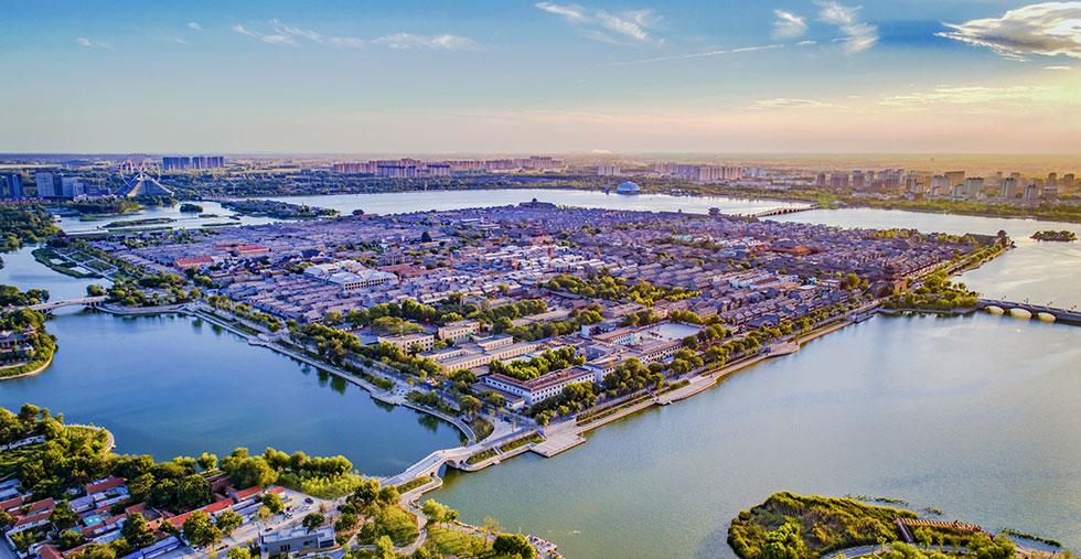 航拍:江北水城 运河古都
