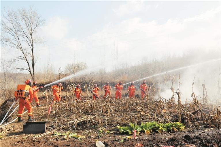 2020年淄博市森林火灾 综合应急演练举行
