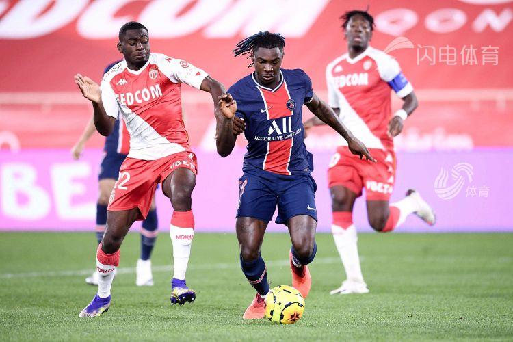 姆巴佩双响 巴黎3-2遭摩纳哥逆转