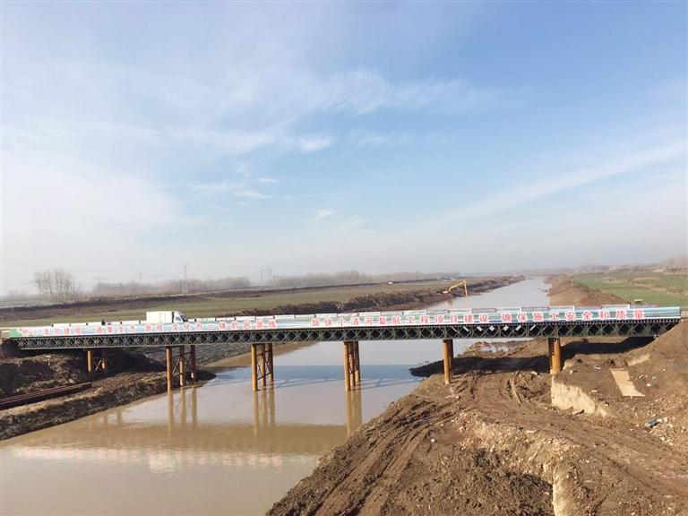 淄博:小清河复航工程唐口大桥开始拆除