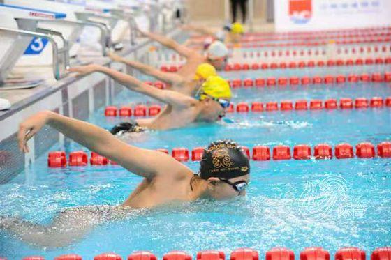 2020年济南市业余游泳挑战赛暨2021年国际泳联游泳世界杯预热活动在济南奥体中心举办