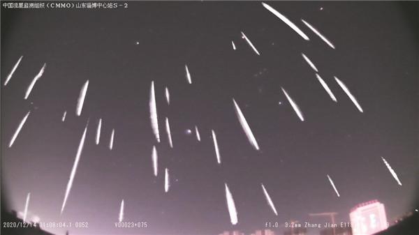 1020颗!捕获流星数量破淄博本地纪录