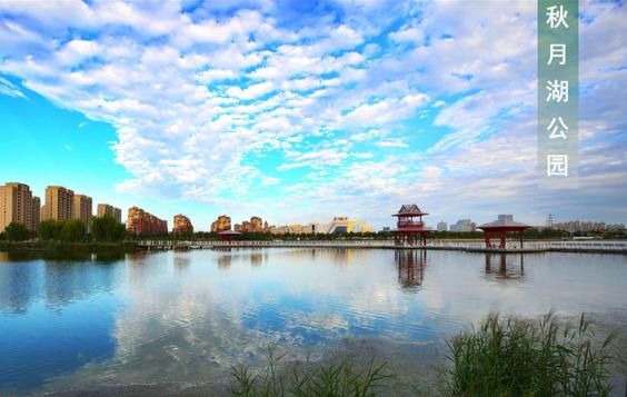 图说东营 天蓝水清广利河