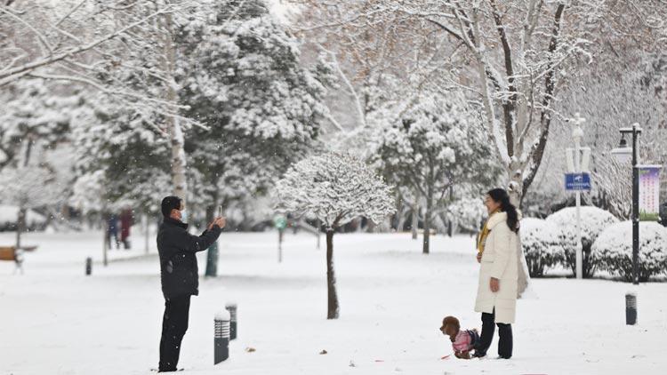 雪落淄博银装素裹 别样风姿迎接新年