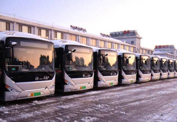 文登首批新能源纯电动空调公交车上线运营