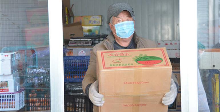 63秒|镜头下的潍坊:极寒天气下坚守的卖菜人