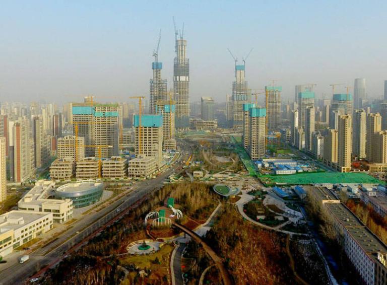 影像力丨济南又一新地标公园五一亮相,CBD五座超高建筑尽收眼底,必成网红打卡地