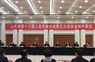 省十三届人大五次会议淄博代表团成立