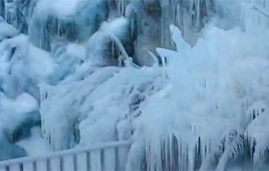"""""""冬游齐鲁""""短视频挑战赛优秀作品:九如山冰瀑"""
