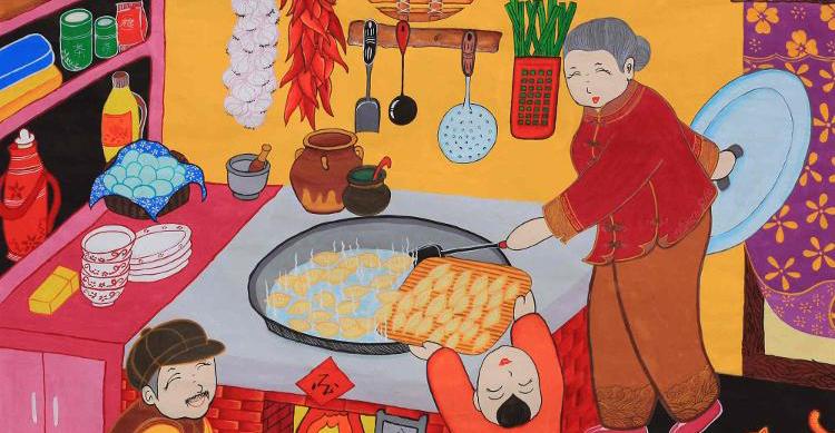 """农民画记录日照新年""""幸福的颜色"""""""