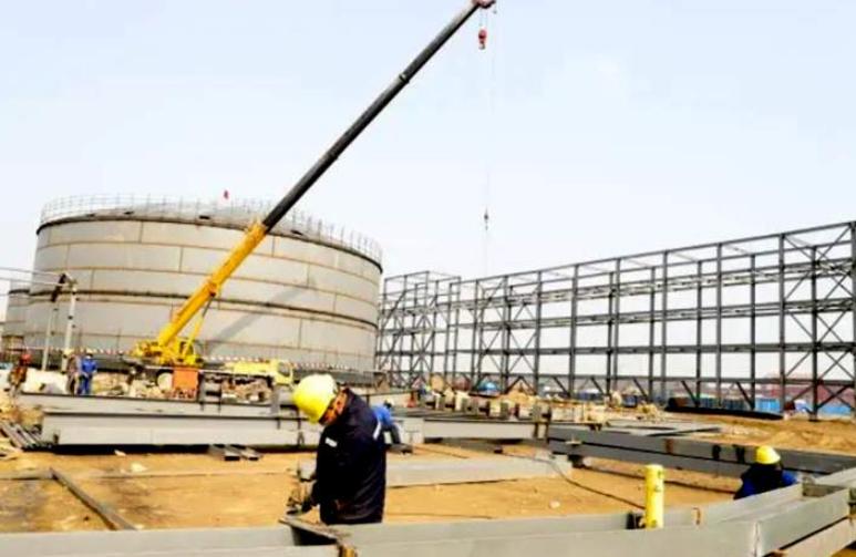 春节不停工 董家口港区液体化工码头加速施工