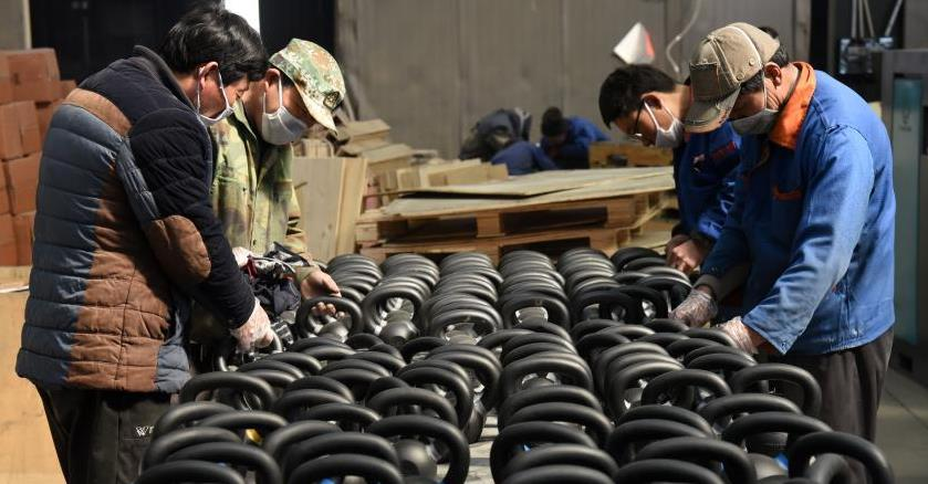 日照五莲:生产健身器材 出口创汇过亿