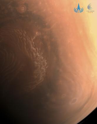 天问一号拍摄的高清火星照来了!