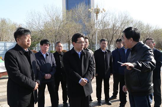 陈必昌市长调研重点项目 要求全力保工期保质量保安全