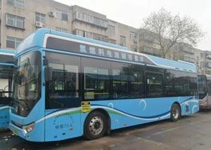 桓台首批氢能源公交车上路
