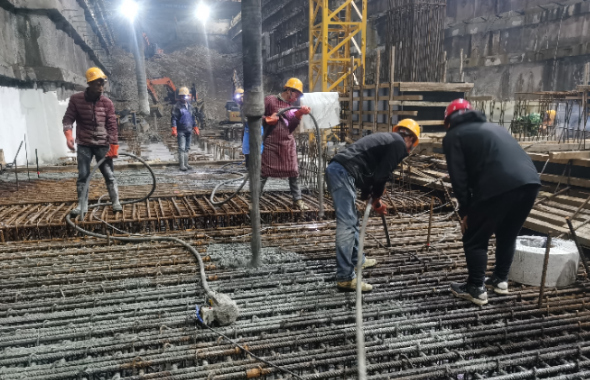 青岛地铁2号线西延段新进展:明挖站进入车站主体结构施工阶段