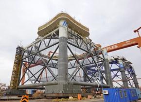 """亚洲最大量产型深海智能网箱""""经海001号""""龙口交付"""