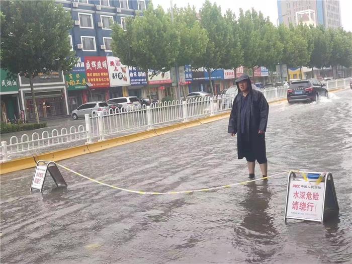 人保财险东营市分公司迅速应对大雨天气