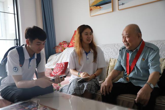 红色党史,薪火相传 山东师大新传学院暑期社会实践队走访老党员