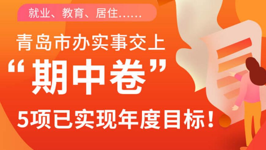 """就业、教育、居住…青岛市办实事交上""""期中卷"""",5项已实现年度目标!"""