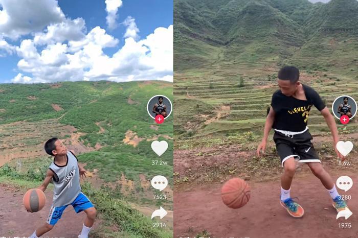 四川大涼山13歲少年靠短視頻自學籃球:點燃大山里的籃球夢