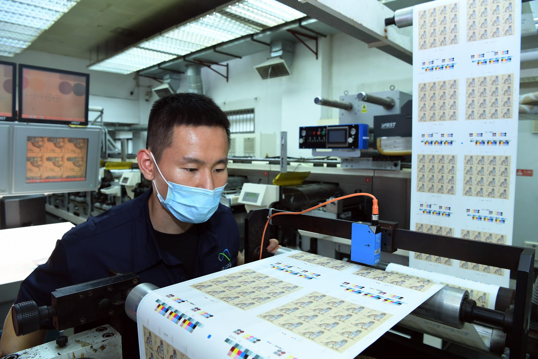 中(zhong)國郵政《壬寅年》特種(zhong)郵票開機印刷(shua)