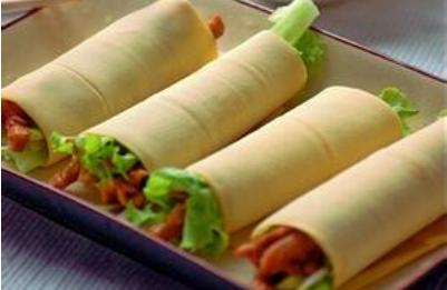 京酱肉丝生菜包