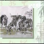 水墨画技巧—牛的创作