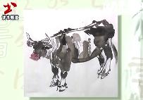 水墨画技巧—牛的画法