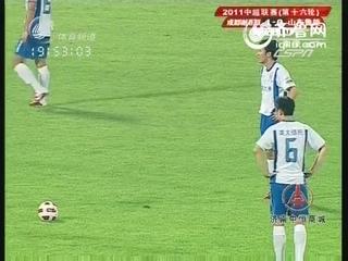 邓卓翔再现落叶球绝技 任意球中柱错失良机