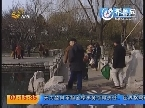 济南:老人晨练落水 市民出手相救