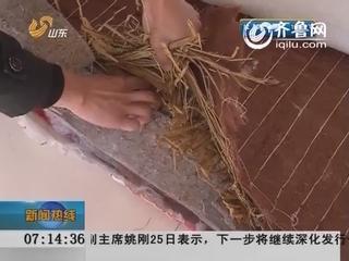 枣庄滕州:床垫填上稻草冒充棕垫