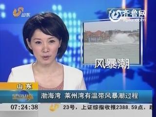 渤海湾莱州湾今明有温带风暴潮过程