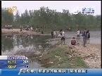 泰安一村民过河时被冲走