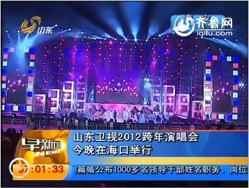 山东卫视2012跨年演唱会31日晚在海口举行