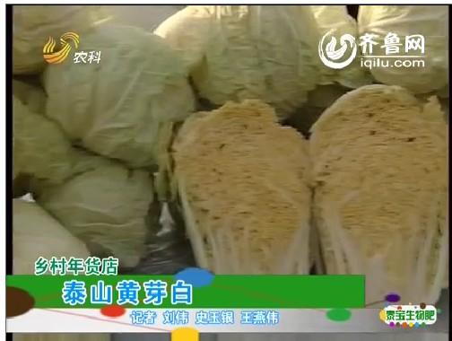 乡村年货店:泰山黄芽白
