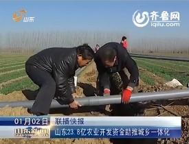 山东23.8亿农业开发资金助推城乡一体化