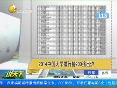2014中国大学排行榜200强出炉 山东大学名列第十
